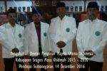Pengukuhan Dewan Pimpinan MUI Kabupaten Sragen Masa Khidmah 2015 – 2020