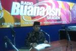 DPD LDII Mengisi Mimbar Agama Islam di Radio Milik Pemda Sragen